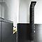 Carrelage mur noir 25 x 60 cm EPOCA Brigitte (vendu au carton)