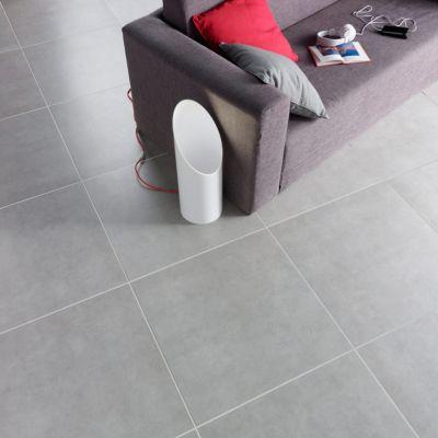 Carrelage Sol Et Mur Gris 60 X 60 Cm Louvio Vendu Au Carton