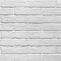 Carrelage mur blanc effet brique 6 x 25 cm Brixton (vendu au carton)
