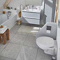 Carrelage sol et mur gris 50 x 50 Metalo Id (vendu au carton)