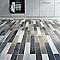 Carrelage sol et mur gris 7,8 x 61 cm Rienza (vendu au carton)