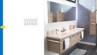 Demi colonne de salle de bains blanc Cooke & Lewis Belice
