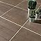 Carrelage terrasse effet bois foncé 43 x 43 cm Tolda (vendu au carton)