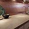 Mosaïque cuivre hexagonale 30 x 30 cm Kosuke