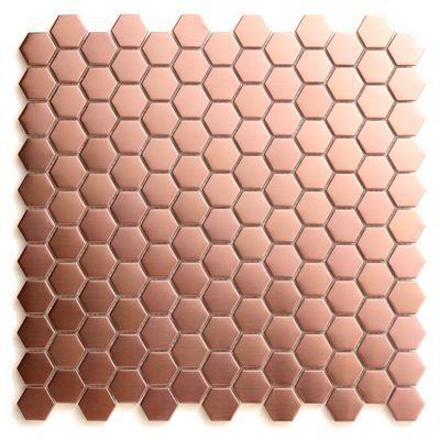 Mosaïque cuivre hexagonale 30 x 30 cm Kosuke | Castorama