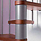 Escalier métal et bois MAGIA 70 Ø110 cm 12 marches gris fonte/cerisier