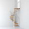 Escalier métal et bois MAGIA 70 Ø150 cm 11 marches + palier blanc/clair