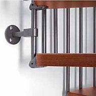 Escalier métal et bois Magia 70 Ø150 cm 12 marches gris fonte/cerisier