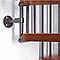 Escalier métal et bois Magia 70 Ø130 cm 12 marches gris fonte/cerisier