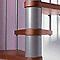 Escalier métal et bois Magia 70 Ø150 cm 13 marches gris fonte/cerisier
