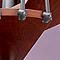Escalier métal et bois Magia 70 Ø130cm 15 marches gris fonte/cerisier