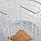 Escalier métal et bois MAGIA 70Xtra Ø110 cm 12 marches blanc/clair