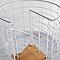 Escalier métal et bois Magia 70Xtra Ø110 cm 13 marches blanc/clair