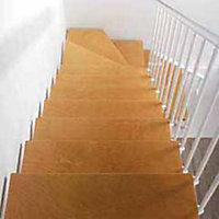 Escalier en L métal et bois Magia 90 l.70 cm 10 marches blanc/clair