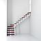 Escalier en L métal et bois MAGIA 90 l.80 cm 12 marches blanc/cerisier