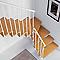 Escalier en L métal et bois Magia 90 l.90 cm 10 marches gris fonte/clair