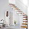 Escalier en L métal et bois MAGIA 90 l.90 cm 12 marches blanc/clair