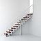 Escalier en R métal et bois MAGIA 90 l.80 cm 10 marches blanc/cerisier