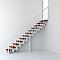 Escalier en R métal et bois Magia 90 l.70 cm 12 marches blanc/cerisier