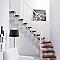 Escalier en L métal et bois MAGIA 90Xtra l.70 cm 10 marches blanc/cerisier
