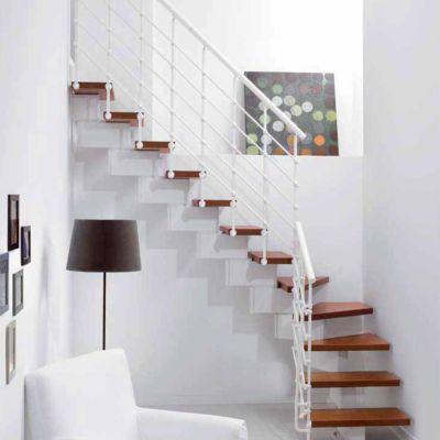 Escalier en l métal et bois magia 90xtra l.70 cm 11 marches blanccerisier
