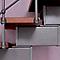 Escalier en L métal et bois Magia 90Xtra l.70 cm 11 marches gris fonte/cerisier