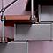 Escalier en L métal et bois Magia 90Xtra l.70 cm 12 marches gris fonte/cerisier