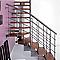 Escalier en L métal et bois Magia 90Xtra l.70 cm 14 marches gris fonte/cerisier