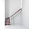 Escalier en L métal et bois MAGIA 90Xtra l.80 cm 10 marches blanc/cerisier