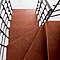 Escalier en L métal et bois MAGIA 90Xtra l.80 cm 11 marches gris fonte/cerisier