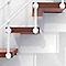 Escalier en L métal et bois MAGIA 90Xtra l.80 cm 12 marches blanc/cerisier