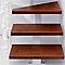 Escalier en L métal et bois Magia 90Xtra l.80 cm 14 marches blanc/cerisier