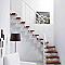 Escalier en L métal et bois Magia 90Xtra l.90 cm 10 marches blanc/cerisier