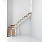 Escalier en L métal et bois MAGIA 90Xtra l.90 cm 11 marches blanc/clair