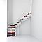 Escalier en L métal et bois Magia 90Xtra l.90 cm 11 marches blanc/cerisier