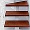 Escalier en L métal et bois Magia 90Xtra l.90 cm 12 marches blanc/cerisier