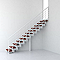 Escalier droit métal et bois Magia 90Xtra l.90 cm 11 marches blanc/cerisier
