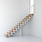 Escalier droit métal et bois Magia 90Xtra l.70 cm 12 marches blanc/clair