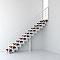 Escalier droit métal et bois Magia 90Xtra l.70 cm 12 marches blanc/cerisier