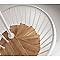 Escalier helicoïdal métal et bois MAGIA 70 Ø130 cm 12 marches blanc/chêne