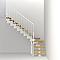 Escalier en L métal et bois Magia 90 l.70 cm 12 marches blanc/chêne