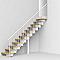 Escalier droit métal et bois Magia 90 l.70 cm 12 marches blanc/chêne