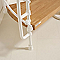 Escalier hélicoïdal métal et bois MAGIA 70Xtra Ø110 cm 12 marches blanc/chêne