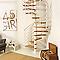 Escalier hélicoïdal métal et bois Magia 70Xtra Ø130 cm 12 marches blanc/chêne