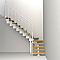 Escalier en L métal et bois Magia 90Xtra l.70 cm 12 marches blanc/chêne