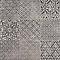 Carrelage sol et mur décor gris 45 x 45 cm Antico (vendu au carton)