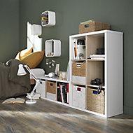 Étagère modulable 3 cubes coloris blanc et chêne