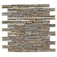 Carrelage mur décor brique 30 x 30 cm Muretto