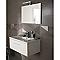 Carrelage mur gris mat 25 x 75 cm Geometrix (vendu au carton)