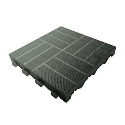 Dalle De Terrasse Composite Anthracite 40 X 40 Cm Castorama